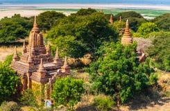 Oude tempel in Bagan, Myanmar Royalty-vrije Stock Afbeeldingen
