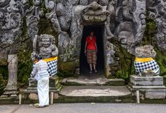 Oude tempel in Bali, Indonesië royalty-vrije stock fotografie
