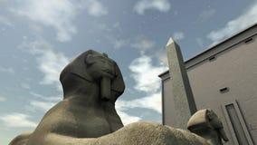 Oude tempel in Egypte Stock Afbeelding