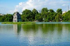 Oude tempel in Hanoi Vietnam Royalty-vrije Stock Foto's