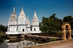 Oude tempel in kannauj Royalty-vrije Stock Foto's