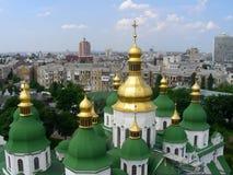 Oude tempel in Kiev royalty-vrije stock foto