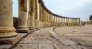 Oude Tempel op de Citadel in Amman, Jordanië Stock Afbeeldingen