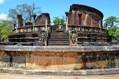 Oude tempel in Oude stad, Polonnaruwa, Srí Lanka Royalty-vrije Stock Foto