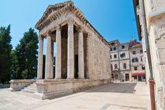 Oude tempel in Pula Royalty-vrije Stock Foto