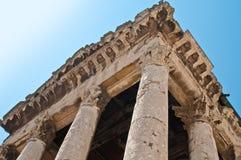 Oude tempel in Pula Stock Foto's
