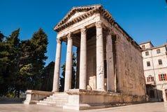 Oude tempel in Pula Kroatië Royalty-vrije Stock Foto's