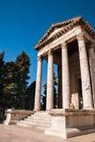 Oude tempel in Pula Kroatië Royalty-vrije Stock Fotografie