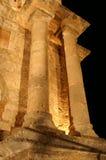 Oude tempel in Rhodos stock foto
