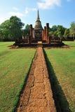 Oude tempel in Srisatchanalai Royalty-vrije Stock Foto's