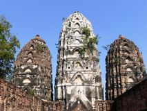 Oude Tempel in Sukhothai/Thailand Stock Afbeelding