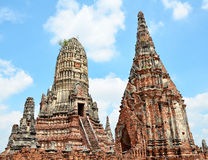 Oude tempel in Thailand. Stock Foto's