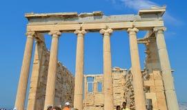 Oude Tempel van Athena, Akropolis in Athene, Griekenland op 16 Juni, 2017 Royalty-vrije Stock Foto's