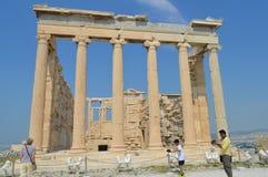 Oude Tempel van Athena, Akropolis in Athene, Griekenland op 16 Juni, 2017 Stock Foto