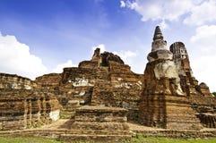 Oude Tempel van Ayudhaya royalty-vrije stock foto