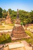 Oude Tempel van Ayuthaya, Thailand Stock Foto's