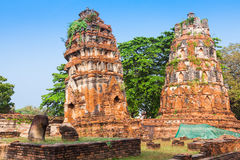 Oude Tempel van Ayuthaya, Thailand Stock Fotografie