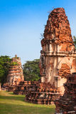 Oude Tempel van Ayuthaya, Thailand Royalty-vrije Stock Foto
