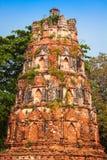 Oude Tempel van Ayuthaya, Thailand Royalty-vrije Stock Foto's