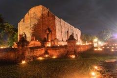 Oude tempel van Ayutthaya stock foto's