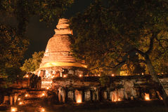 Oude tempel van Ayutthaya stock fotografie