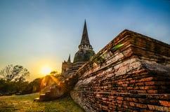 Oude tempel van Ayutthaya Thailand Royalty-vrije Stock Afbeelding