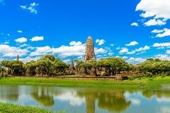 Oude tempel van Ayutthaya, Wat Phra Ram, Thailand Royalty-vrije Stock Afbeelding