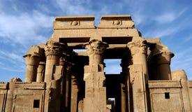 Oude tempel van farao Sobek in Kom Ombo Stock Afbeeldingen