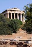 Oude Tempel van Hephaestus Stock Afbeeldingen