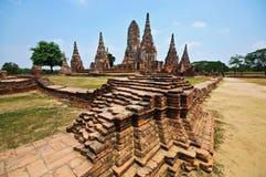 Oude Tempel wat Chaiwatthanaram van Ayuthaya-Provincie Royalty-vrije Stock Foto's