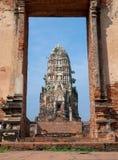 Oude Tempelarchitectuur in het Historische Park van Ayutthaya, Ayutthaya, Stock Afbeeldingen