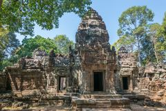 Oude tempelruïnes dicht bij Angkor-Vat Royalty-vrije Stock Foto's