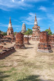 Oude tempels in Ayutthaya, Thailand Royalty-vrije Stock Foto