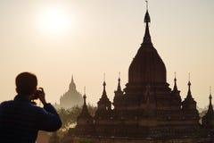 Oude tempels in Bagan, Myanmar Stock Afbeelding