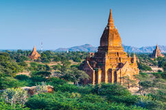 Oude tempels in Bagan, Myanmar Royalty-vrije Stock Foto