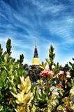 Oude Tempelwat-yai-chai-mongkol van ayuthayaprovincie Thailand Royalty-vrije Stock Fotografie