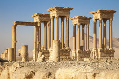 Oude tetrapylon Palmyra Stock Afbeeldingen