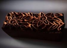 Oude textuur van de zegel voor stof Stock Afbeeldingen