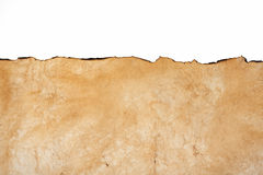 Oude textuur van het document met gebrande randen Royalty-vrije Stock Foto's