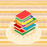 Oude textuur velen de bannervector van de boekkaart royalty-vrije illustratie