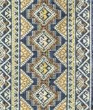 Oude Thaise geweven doek Stock Afbeelding