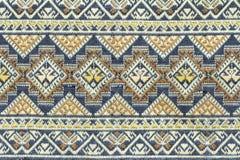Oude Thaise geweven doek Stock Fotografie