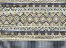 Oude Thaise geweven doek Stock Foto