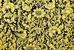 Oude Thaise patronen op deur. Royalty-vrije Stock Afbeelding