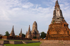 Oude Thaise Tempel Stock Afbeelding