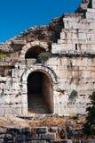 Oude theateringang, Miletus stock foto's