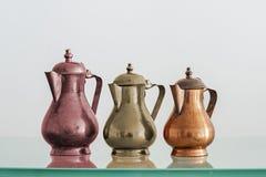 Oude theepotten Royalty-vrije Stock Foto