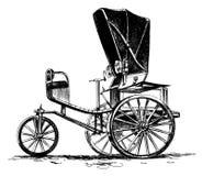 Oude three-wheeled auto Royalty-vrije Stock Afbeelding
