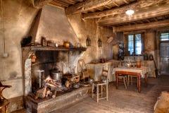 Oude tijdenboerderij Stock Foto's