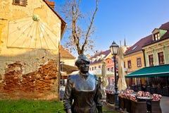 Oude Tkalciceva-straat in Zagreb royalty-vrije stock foto's